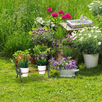 Plantentafel - bloempothouder - gietijzer - tuin decoratie Gratis verzending
