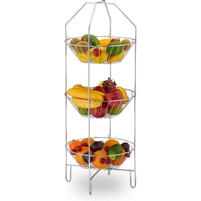 Fruitschaal etagère - 3 laags - fruitmand - metaal - etagère voor fruit - staand Gratis verzending