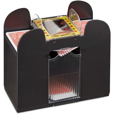 elektrische kaartenschudder, 6 decks, werkt op batterijen Gratis verzending