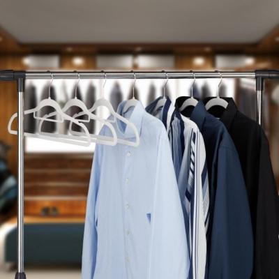 Kledinghangers XL set - fluweel - broekhanger - draaibaar - broeklat - beige Pak van 30 Gratis verzending