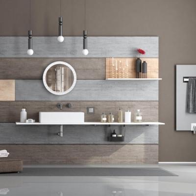 Spiegel rond - sierspiegel gang - wandspiegel - design - 50.5 cm rond - modern wit Gratis verzending