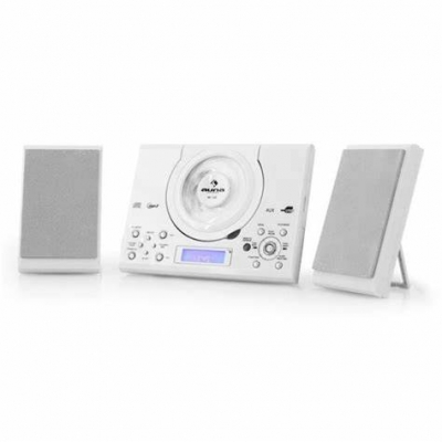 Auna Compact Stereo Systeem Draagbare Radio CD Speler Wekker USB Mp3 LCD Gratis verzending