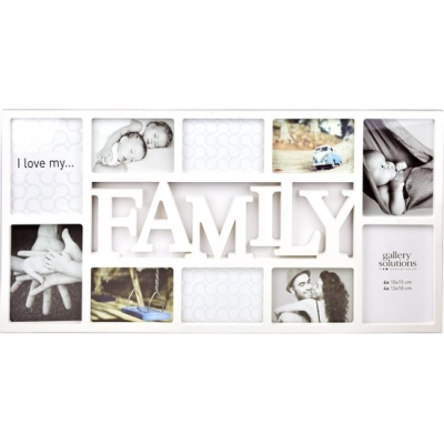Family collage wit of zwart
