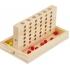 4 op een rij - gezelschapsspel - reisspel - hout - 2 x 18 stenen - vier op een