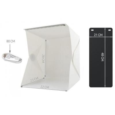 Photo Light Tent Photo Studio Photo Box Fototent Opvouwbaar met LED 2 Achtergronden