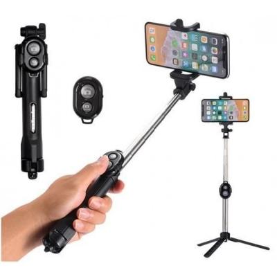 Monopod Fotohouder Selfiestick Bluetooth 3in1