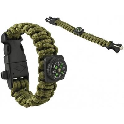 Paracord Armband Army Green 5-in-1 Tool Survival Outdoor Actief Lichtgewicht Waterdicht