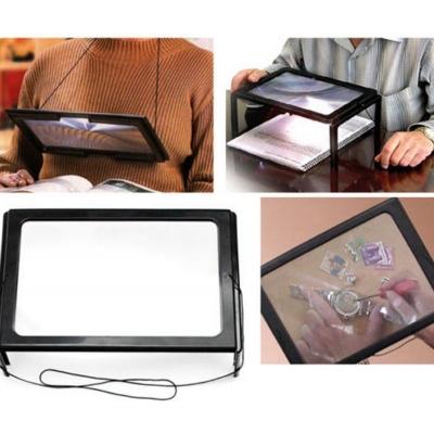 LED Lees Loep Lamp Vergrootglas Tafel - 3x - A4 Loeplamp Vergrootblad - Loupe Paneel Extra Groot Voor Lezen