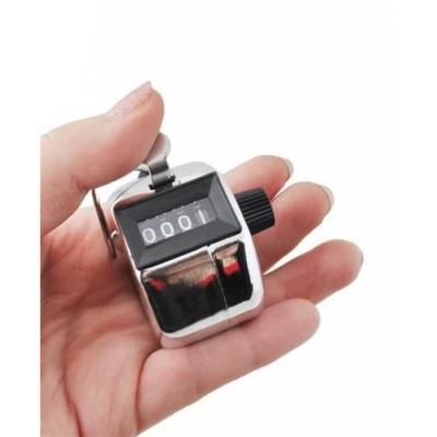 Handteller Counter 4 cijferig - Metaal - Zilver